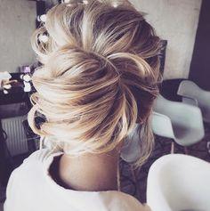hair styles medium length hair hair bridesmaid hair styles medium length hair hair bun styles for wedding hair hair bun styles wedding hair hair styles Wedding Hairstyles For Long Hair, Wedding Hair And Makeup, Up Hairstyles, Hair Makeup, Hairstyle Ideas, Formal Hairstyles, Hair Ideas, Beautiful Hairstyles, Hairstyle Wedding