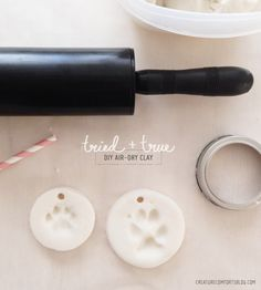 Tried and true DIY air dry clay for ornaments. | Creature Comforts #dogdiy