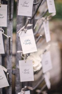 Love the bottle tree used for escort cards.  Wendelline Papers has a Fantasy gift tag that would work in the same great way.