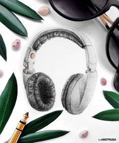 Ernesto Linares Music (headphones,pencil,drawing,realism, photography, nature, outdoor, dj, music, cover, tracks, soundcloud, roadtrip, travel, summer, corsica, electro, electronic, design)