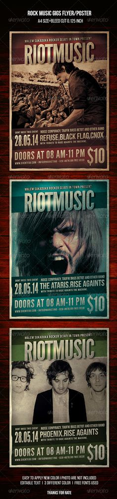 Rock Indie Music Flyer/Poster — Photoshop PSD #urban #folk • Available here → https://graphicriver.net/item/rock-indie-music-flyerposter/8324503?ref=pxcr
