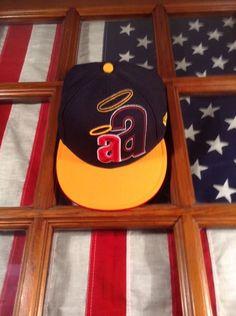 best service 82947 db440 MENS   HAT   7 5 8   59FIFTY Anaheim Angels New Era Cap Black Yellow Red  White  NewEra  NewYorkYankees