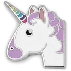 Fossil Idecoz Unicorn Sticker Pin Fcu0113998 (33315 PYG) ❤ liked on Polyvore featuring accessories