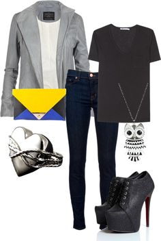 """Black Out"" by rikasfashionbox on Polyvore"