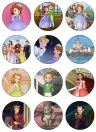 Sofia the first birthday cakes | Sofia the First Edible Cupcake Toppers 12 Princess Sophia images for ...
