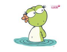 Wandtattoo Green Lilly im Wasser