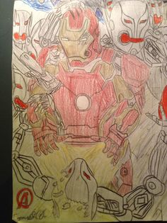 Iron man A2 Iron Man, Drawings, Painting, Art, Sketches, Craft Art, Paintings, Sketch, Kunst