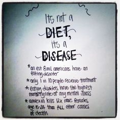 So the next time you say you are jealus of my will power and lifestyle.. Remember it's not a diet, it's not a choice, it's a disease that has destroyed my life and a disease I'm going to fight everyday for the rest of my life. I didn't ask for it, so stop saying you want it...