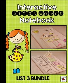 Sight Word Interactive Notebook Bundle: This Sight Words First Grade List Bundle has been designed for students learning high frequency words. Perfect for those learning from the Dolch First Grade List. Great for reference and practice! With simple shapes and detailed instructions, the cutting and folding will also benefit fine motor skills.Please note: This download is included in my Sight Word Interactive Notebook Bundle Ultimate Edition {220 Words}.