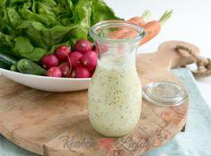 Yoghurt salade dressing - Keuken♥Liefde Paleo Dressing, Vinaigrette Dressing, Salad Dressing Recipes, Orange Creme, Kfc Coleslaw, Ceasar Salad, Happy Drink, Healthy Mind, Diy Food