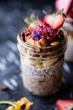 Chia Pudding with Grain Free Granola | halfbakedharvest.com @hbharvest