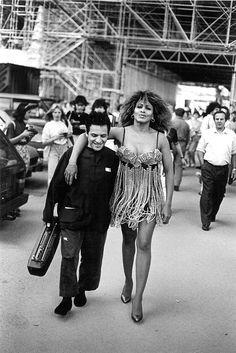 Azzedine Alaia and Tina Turner shot by Peter Lindbergh.