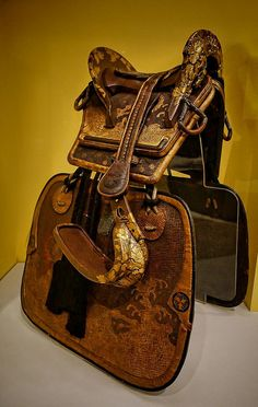 Gold and Silver-toned lacquered wooden Samurai saddle with stirrups made for the elite Takenaka family 1678 CE Japan | Flickr - Photo Sharing!