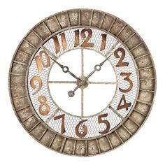 Round Metal Outdoor Wall Clock in Montana