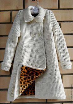 Knitted coat for girl /  Пальто вязаное для девочки Мишель - пальто, вязаное пальто, пальто для девочки, демисезонное пальто