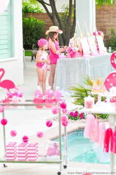 Flamingo Pool + Art Birthday Party by Kara Allen | Kara's Party Ideas KarasPartyIdeas.com Flamingle_-78