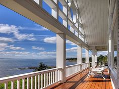 The view, the view, the view!           #porch #ocean #Maine