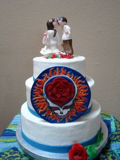 The Grateful Dead Wedding cake I made for friends :)