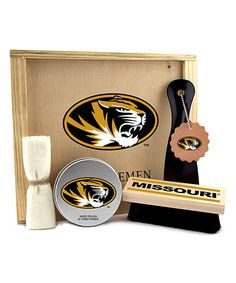 Look at this Missouri Tigers Shoe Care Gift Set on #zulily today!