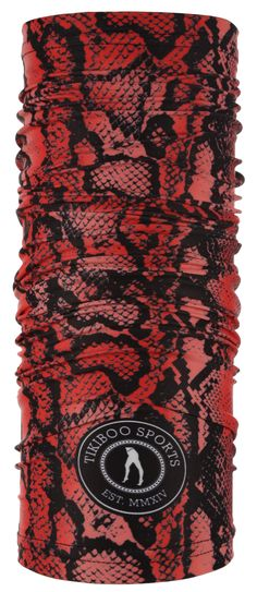 Rock the reptile look with our fearless Snakebite TikiTube. In an authentic red and black scale print, this versatile accessory keeps cold weather at bay and dries up sweat and raindrops effortlessly. When the wind bites, bite back in style!  Flexible and fun, there are endless ways to wear your TikiTube, including sweatband, headband and buff, to keep your neck and face warm. You can also wear it on rest days as a stylish beanie hat. Snakebite, Rest Days, Rain Drops, Beanie Hats, Reptiles, Cold Weather, Scarves, Warm, Rock