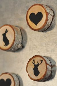 Wood Slice Magnets - Suburble