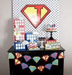 super hero boys birthday party