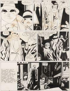 """José Muñoz: """"Alack Sinner"""" original art (1976)"""