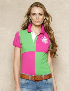 Skinny-Fit Color-Blocked Polo - RalphLauren.com