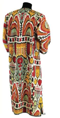 an ikat piece from the Textile Museum's Murad Megalli collection. - style court: Landing the Cover Historical Costume, Historical Clothing, Traditional Fashion, Traditional Outfits, Textiles, Costume Ethnique, Vintage Outfits, Vintage Fashion, Textile Museum