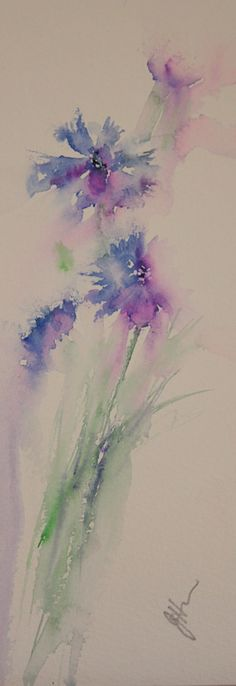 Watercolours With Life: Simplify ! Cornflowers in Watercolour