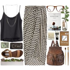 A fashion look from April 2014 featuring H&M tops, Thakoon skirts and Steve Madden sandals. Browse and shop related looks.