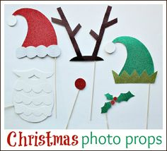 Whip up these fun Holiday props for photos, parties or just for fun. #AlexiaHolidays