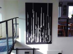 Black white painting artists vertical line