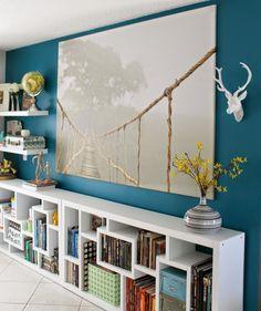Linda sala! Com azul e branco!