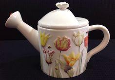 Hallmark Nature's Sketchbook Marjolein Bastin Floral Tulip Watering Can Teapot