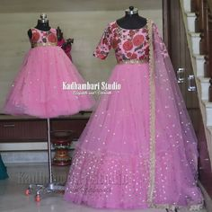 This outfit is Available for mom and 9400 upto baby .from house of Kadhambari. We can customize the colour and size as per… Mom Daughter Matching Dresses, Mom And Baby Dresses, Dresses Kids Girl, Matching Outfits, Kurta Designs Women, Blouse Designs, Long Gown Dress, Sari Dress, Indian Gown Design