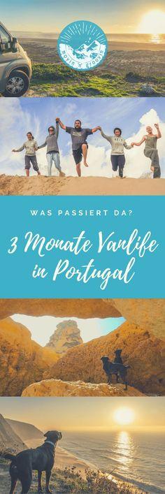 3 Monate Vanlife in Portugal – was passiert da? Fast jeden Tag passieren neue Dinge – neue Begegnungen, neue Orte, neue Erkenntnisse, neue Ideen… Damit du mal einen kleinen Einblick in meinen Alltag bekommen kannst, habe ich hier einfach mal aufgeschrieben, was in den letzten drei Monaten in Portugal so passiert ist – wo ich war, wen ich getroffen habe, was passiert ist… also, steig ein! :-) #Portugal #Vanlife #Roadtrip