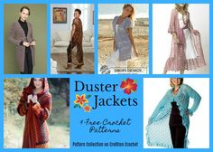 Duster Jacket Pattern Collection - Cre8tion Crochet