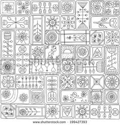geometric doodle rectangles by Julia Snegireva, via Shutterstock