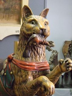 This Dentzel Cat is attributed to Italian carver Salvatore Cernigliaro and was produced by the Dentzel Factory in 1905 by mharrsch, via Flickr