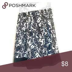 GNW Floral Skirt Seersucker type material with stretchy lace bottom and elastic waistband. By gnw. Skirts A-Line or Full
