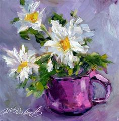 """Daisies in Pink"" - Original Fine Art for Sale - © by kristen dukat"