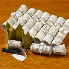 Gold and Silver Embellished Christmas Crackers