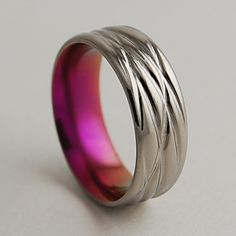 This looks like something a fabulous @Offbeat Bride would love for a wedding band. These rings are amaaaazing.