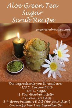 Aloe Green Tea Sugar Scrub Recipe-diy sugar scrub