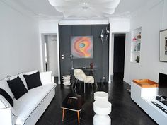 Arrondissement Eiffel Tower apartment rental - Some pieces of contemporary Latin-American art in the living-room. Paris Apartments, Rental Apartments, Tower Apartment, French Apartment, Girls Getaway, Ideal Home, Vacation, Contemporary, Living Room