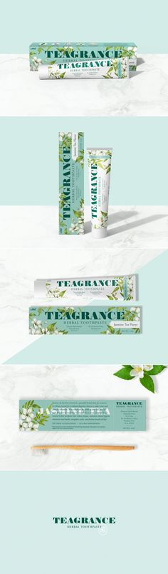 Teagrance is The Jasmine Tea Flavored Toothpaste With Beautiful Packaging — The Dieline | Packaging & Branding Design & Innovation News