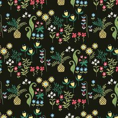 regran from @laura_may_designs - Flower garden....where did the dinosaurs go?! #surfacedesign #surfacepattern #textiledesign #laura_may_designs #spoonflower #print #pattern #repeatpattern #repeatdesign #vector #textiles #garden #flowers #surfacespatterns #art