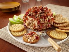 Candied Pecan, Bacon and Apple Butter Cheeseball