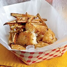 Best Cod Recipes | Beer-Battered Fish and Chips | CookingLight.com